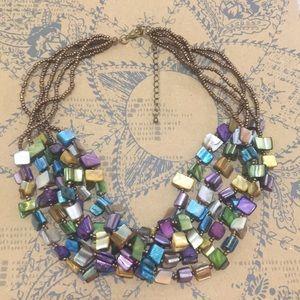 Jewelry - Multi-strand multicolored shell necklace